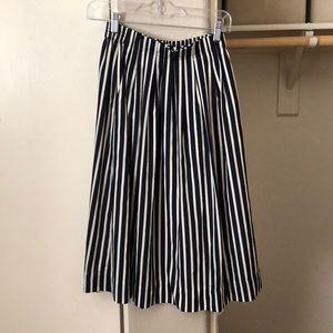 J. Crew Pleated Midi Skirt
